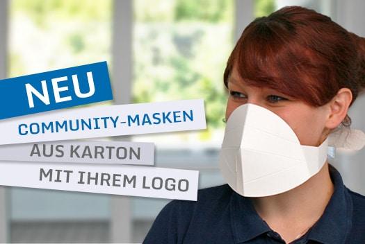 Community-Masken für Mund & Nase - Der Werbeträger für Ihr Unternehmen